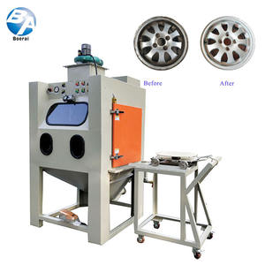 Wet Sandblasting Machine / Environmental protection and energy saving wet closed type sandblasting m