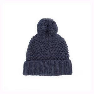 Fleece Lining Winter Custom Logo Polar Recycled Beanie Hats with Pom Pom