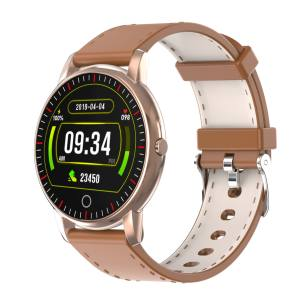 New portable style Golden brown smart watch M342 Custom OEM Smartwatches support Weekly Health Repor