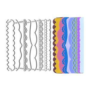 Lace Border Metal Cutting Dies Scrapbooking Craft Stencil Embossing Folder Card making Slimline Dies