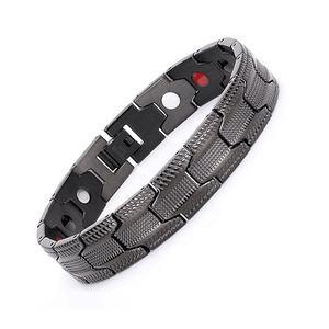 Women men high quality vacuum plating bio energy healthcare magnetic bracelets