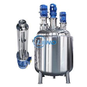LENO Price Liquid Storage Emulsify Drum Disperser Homogenizer Heating Mixer Jacket Vessel Agitator S