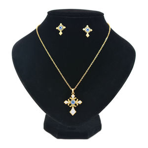 Rhinestone EvilEye Necklace Gold Necklace Stainless Steel Necklace Jewelry Sets