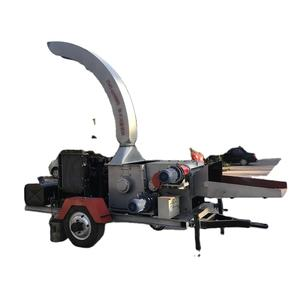 HY500 China Forestry Mobile Diesel Engine Wood chipper shredder Branch wood Chip Crusher Machine For