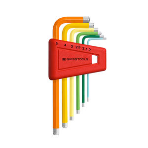 PB Swiss Tools 6 Pcs Home Repair Tool L Type Colorful Hexagon Wrench Hex Allen Key Wrench