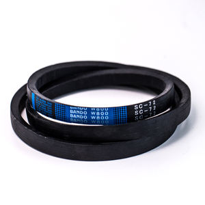 Best price kubota agricultural machinery spare parts black rubber v belt