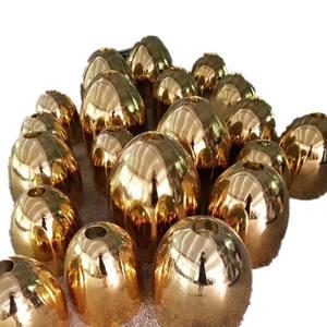 Professional Electroplating Factory High Quality Chrome Painting Fiberglass Egg Sculpture Gold Plati