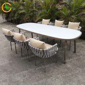 Popular foshan On Stop Service restaurant bistro deck patio conversation aluminum outdoor cafe chair