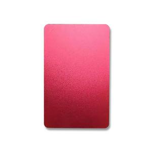 Customizable anodized aluminum alloy business cards machining service