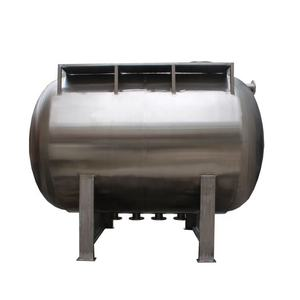 6000 liter Stainless Steel Maldives Custom Horizonta Water Storage Tank Insulation Tank with Escalat