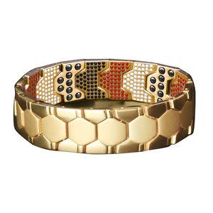 New style fashion vacuum plating health jewelry titanium steel women magnetic bracelet