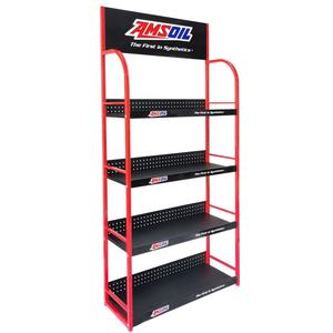 Garage Shop Durable Metal Auto Parts Engine Oil Display Rack Lubricants Oil Display Stand