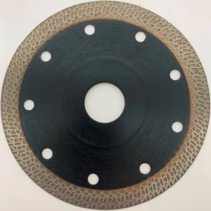 Diamond turbo saw blade for cutting tiles and ceramics with flange TPFGFT