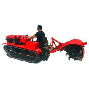 Hot Sale Remote Control Crawler Walking Tractor Agriculture Cultivators