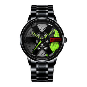Official automatic movement cheap boys watch men's vacuum plating wheel style non-mechanical wa
