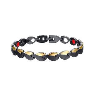 Factory Cheap price custom print logo vacuum plating black magnetic energy healthcare bracelet and c