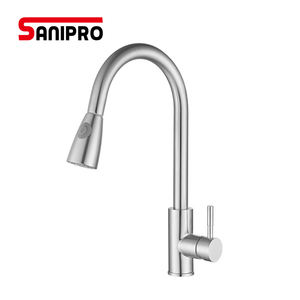 SANIPRO Solid SUS304 Stainless Steel Lead-free Kitchen Faucet Mixer Tap