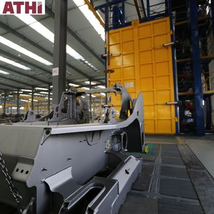ATHI tank tunnel shot blasting & automatic car bumper painting line by robotic paint