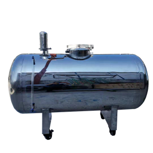 Stainless steel horizontal aseptic water tank SS304 food material storage custom ultrapure water sto