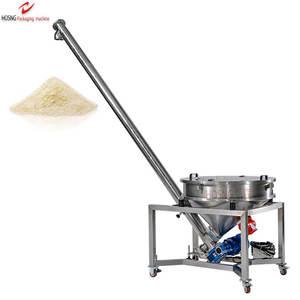 Flexible SS304 Screw Feeder Series Chemical Powder Feeding Conveyor Machine With 150L Round