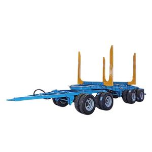 Farm Tractor Forestry machine Log Trailer with Drawbar Hitch for Sale